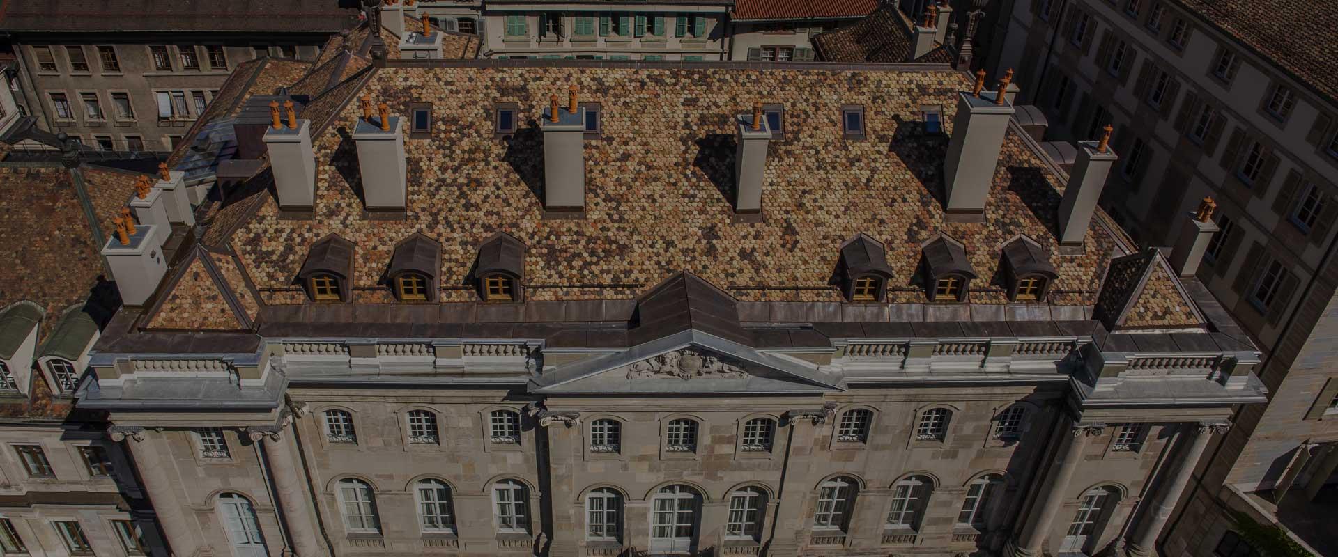 Macullo toiture<br />vu du ciel&#8230;